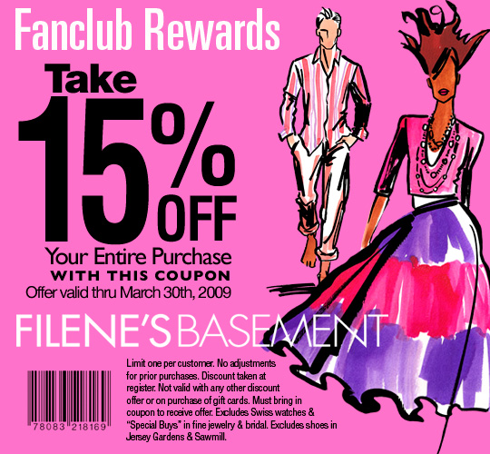 Filene's basement coupon code