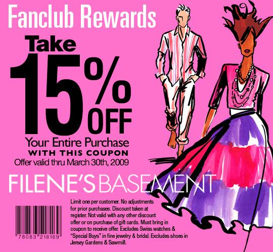 Filene's basement coupon code