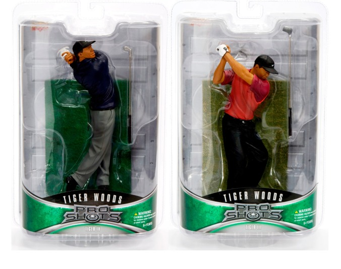 Tiger Woods Pro Shots Upper Deck Series 2 Action Figures