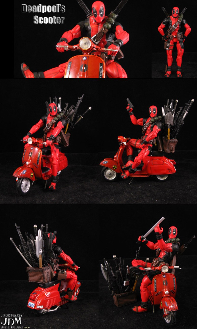 Deadpool with Scooter