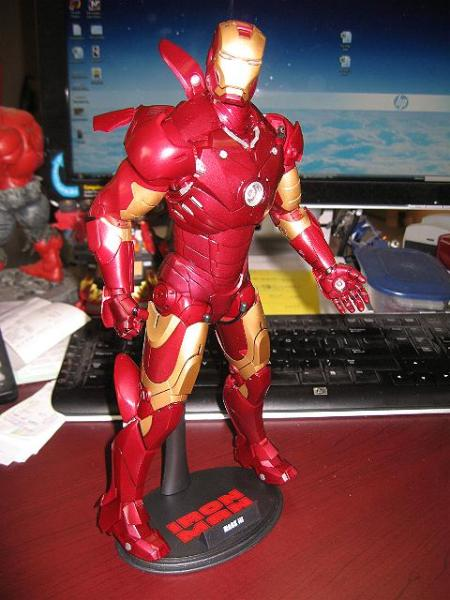 Iron Man Mark III Figure on my Desk