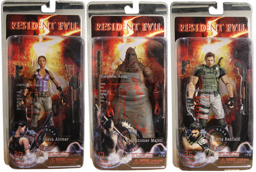 Set of Resident Evil 5 Action Figures