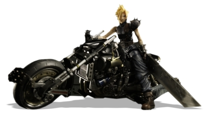 Cloud Strife & Daytona Motorcycle Deluxe Figure
