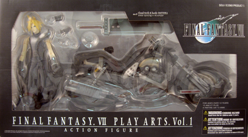 Cloud Strife & Daytona Chopper Motorcycle Deluxe Figure Set
