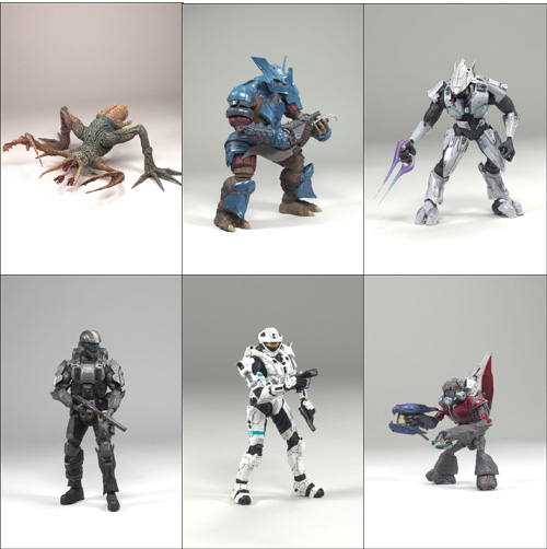 Halo 3 Action Figure Series 6 Medal Edition: Set of 6