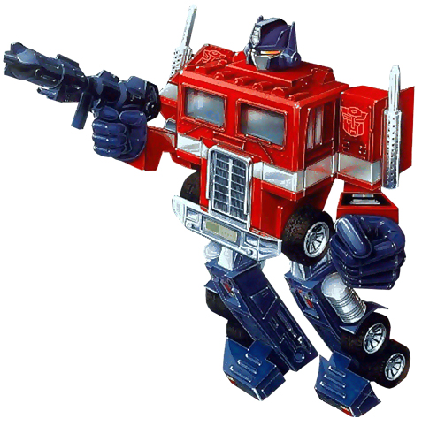 Above: Optimus Prime before Michael Bay made him lame by making him cool.