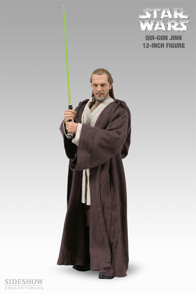 Sideshow Toys Star Wars Action Figures: Qui-Gon Jinn 12 inch