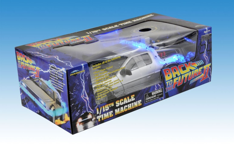 Back To The Future 1:18 Scale Replica: Delorean Mark I With Lights & Sound
