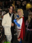 Two Face and Power Girl at Toronto Fan Expo 2009