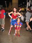 Wonder Woman and Supergirl at Toronto Fan Expo 2009