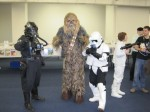 Chewbacca and Tie Fighter Pilot from Star Wars