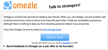 Let's talk to Strangers! Omegle com | CmdStore