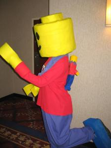 Comic Book and Toy Show Lego Costume