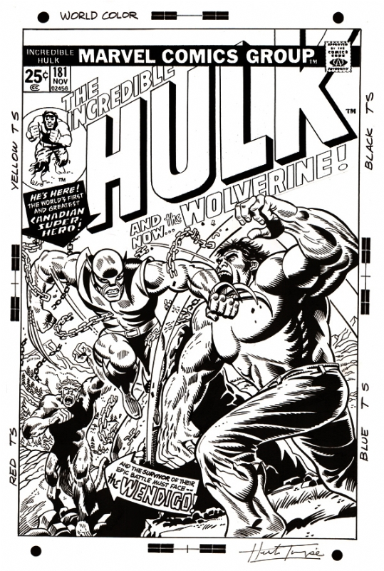 Incredible Hulk 181 Cover Recreation by Herb Trimpe
