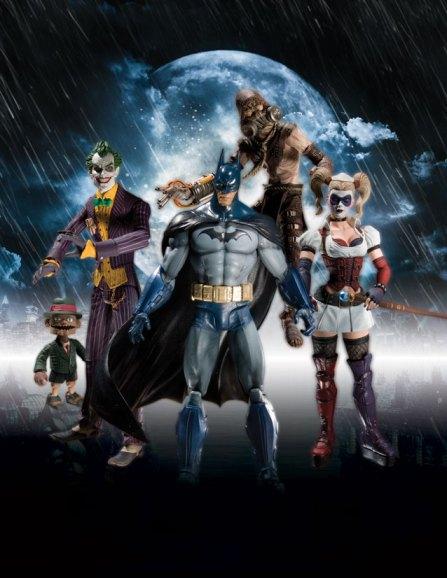 Arkham Asylum Batman figures from DC Direct