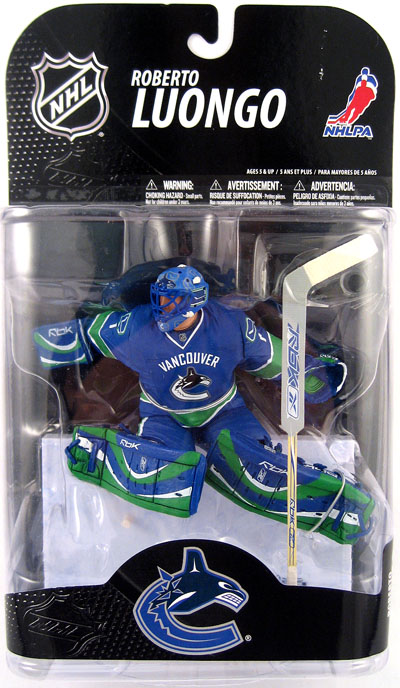 Roberto Luongo Canucks Jersey Action Figure