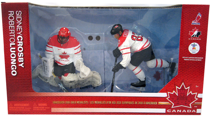 Sidney Crosby & Roberto Luongo Team Canada Figure