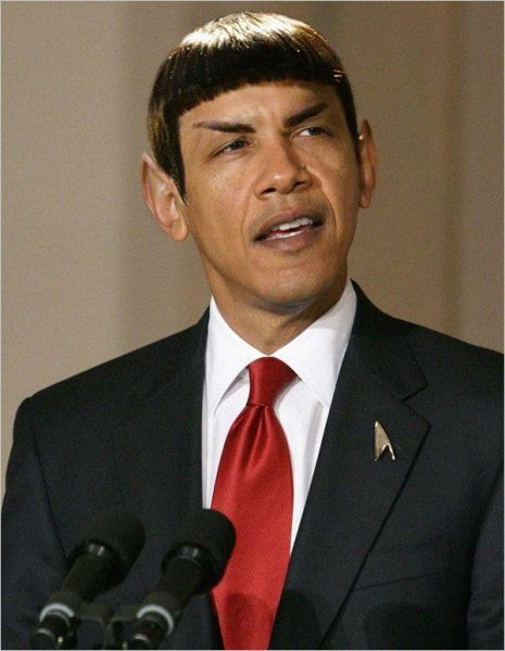 Star Trek Osama Barack as Spock