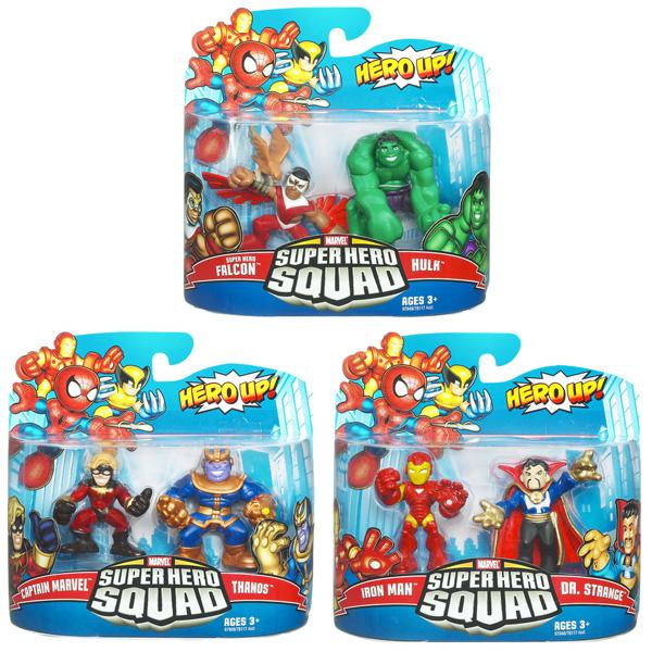 Iron Man & Dr. Strange - Thanos & Mar-vell - Falcon & Hulk
