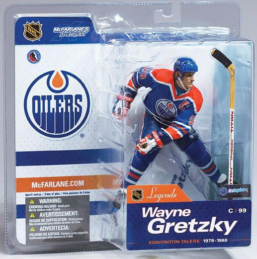 McFarlane NHL Legends Series 1 Figure Wayne Gretzky Oilers Jersey