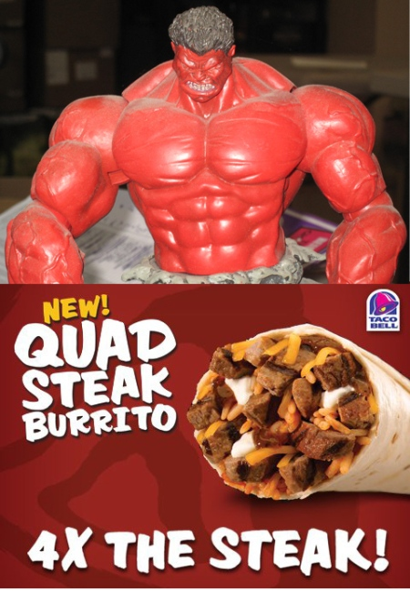 Red Hulk likes Taco Bell