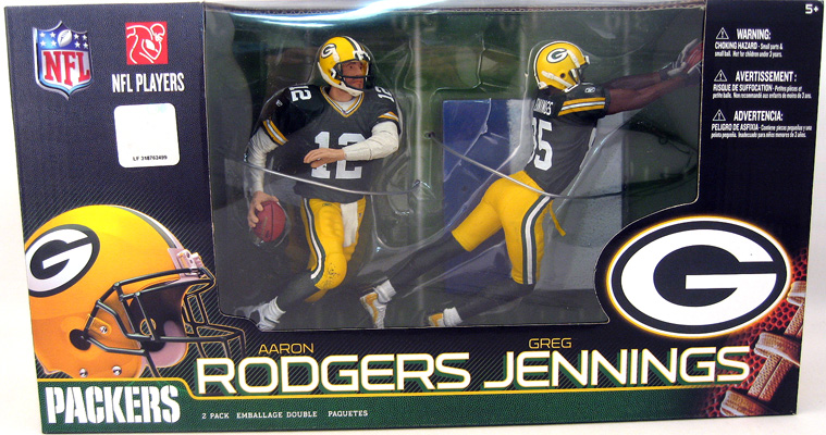 Aaron Rodgers and Greg Jennings Figures