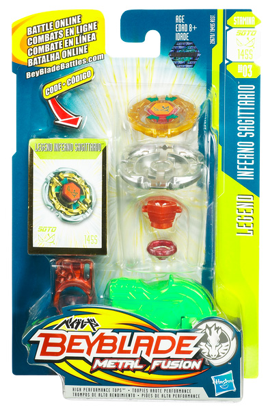 Inferno Saggitario Beyblade Metal Fusion Legend Series