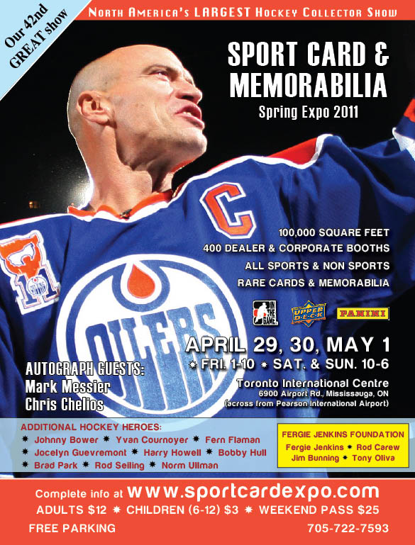 sports card and memorabilia spring expo 2011 in toronto cmdstore