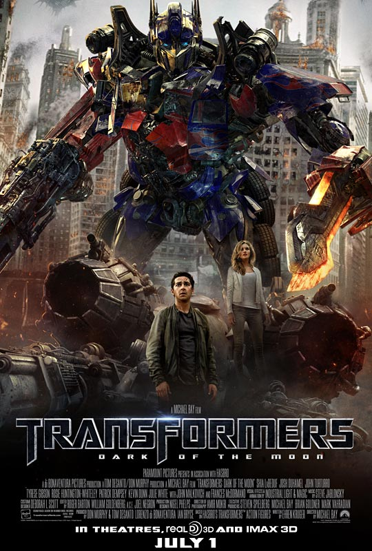 Transformers 3 Dark of the Moon Movie Poster