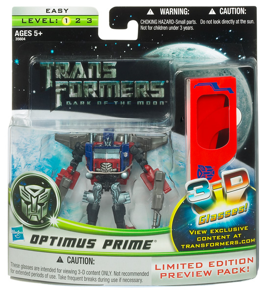 Transformers Dark Of The Moon Action Figure Preview Series - Optimus Prime