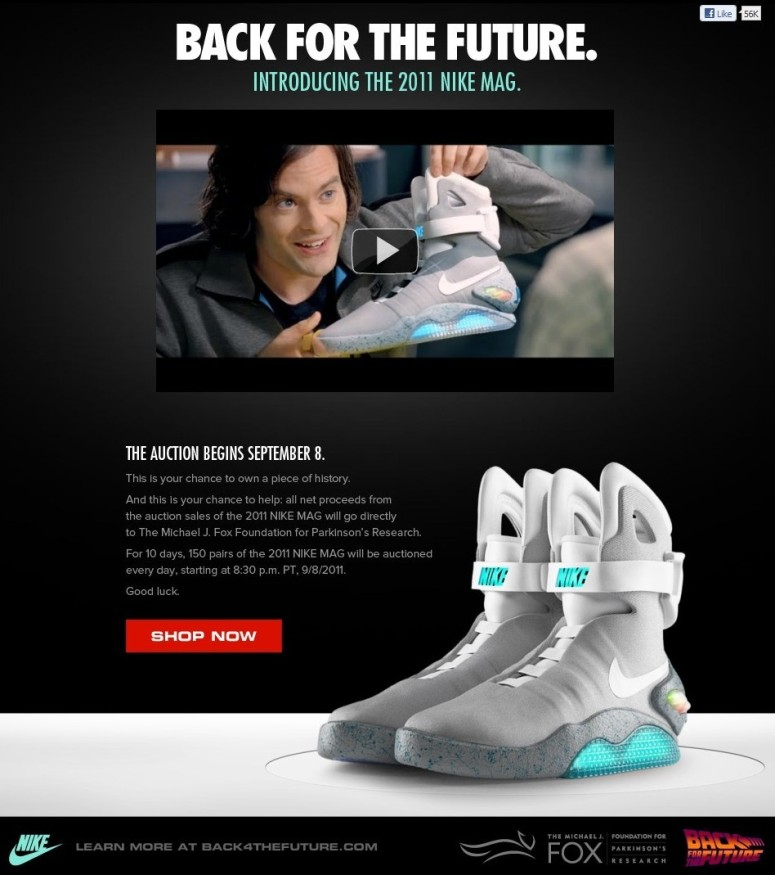 Nike Mag Back For The Future Sneaker