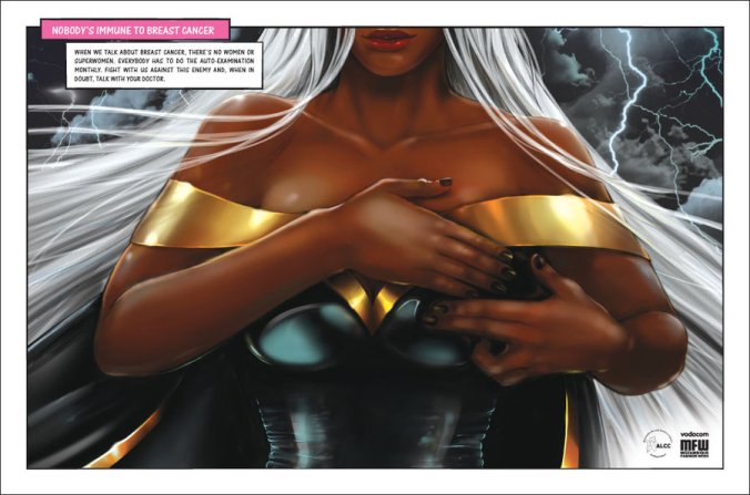 Storm's Breast from X-men