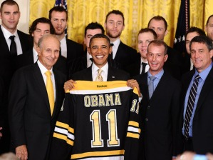 bruins at the white house with president obama