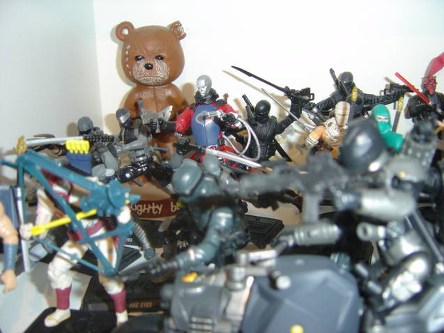 Toy collection army of action figures