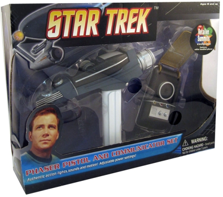 Star Trek Communicator and Phaser