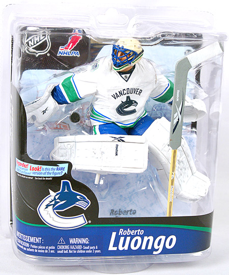 NHL Hockey 6 Inch Action Figure Series 28 - Roberto Luongo White Jersey