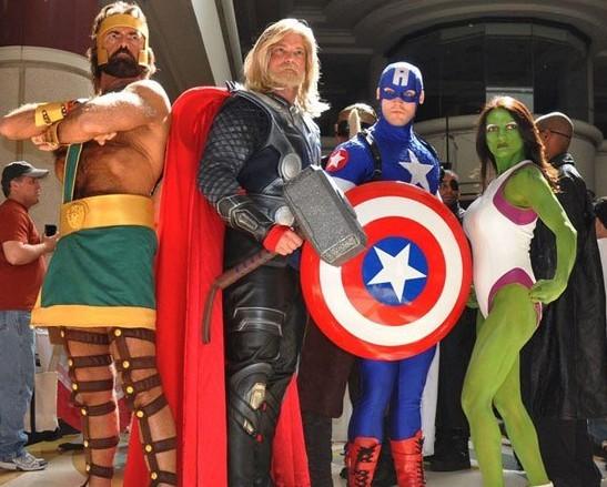 Avengers Cosplay Figures