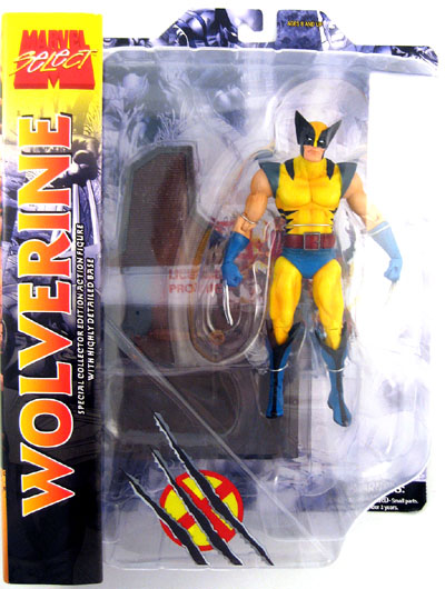 Marvel Select Action Figure Wolverine Yellow Costume