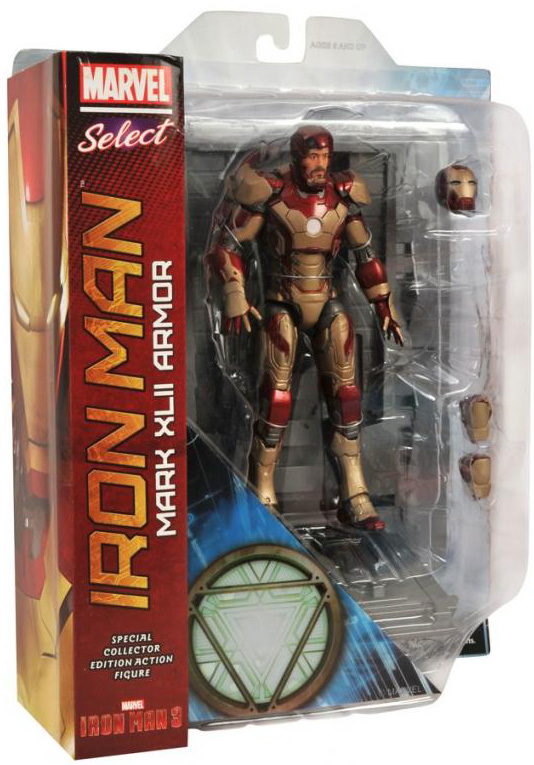 Marvel Select 8 Inch Action Figure Iron Man 3 - Iron Man MK42