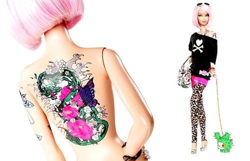 tokidoki Barbie Doll Tattoos
