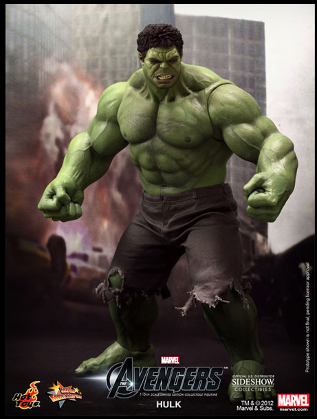 Hulk Avengers Movie 16 Inch Figure Masterpiece Hot Toys Series