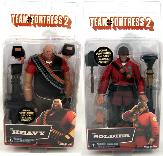 Heavy & Soldier Team Fortress 2 Figures