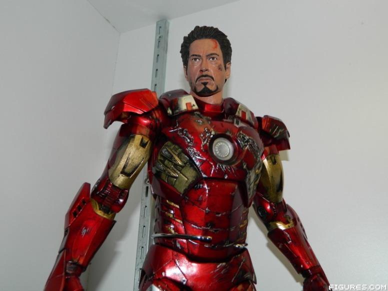 Tony Stark Iron Man Mark VII Battle Damaged 18 inch Figure ...