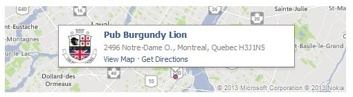 Map of Burgundy Lion Location