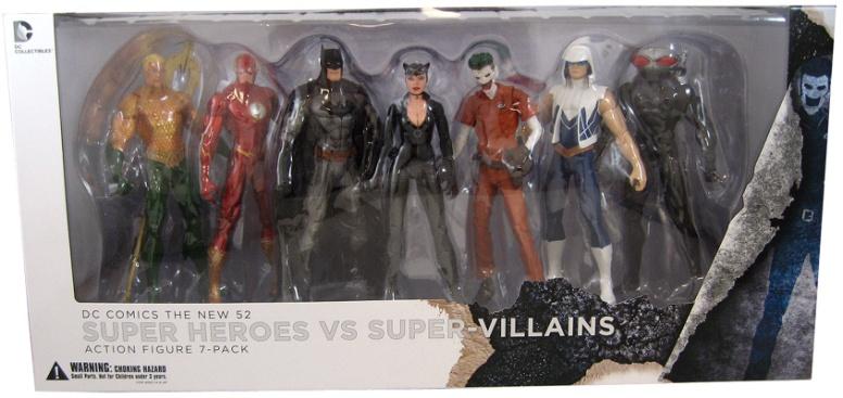 New 53 Super Heroes vs Super Villains 7-Pack Figure Set