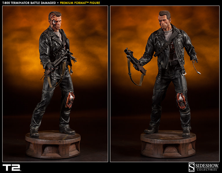 T-800 Terminator Battle Damaged Premium Format Statue