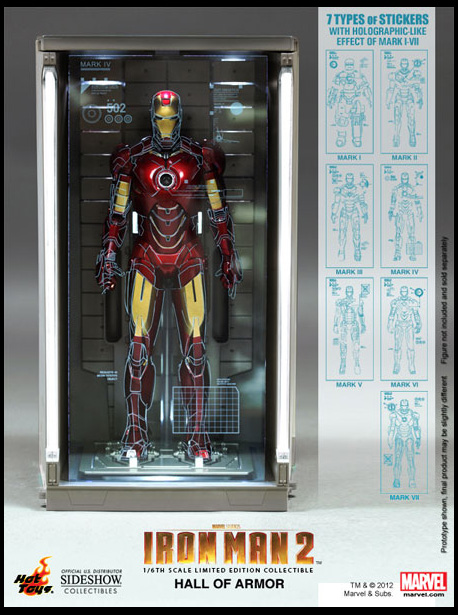 Iron Man Hall of Armor Hot Toys