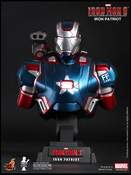 Iron Patriot Bust Iron Man 3 Movie
