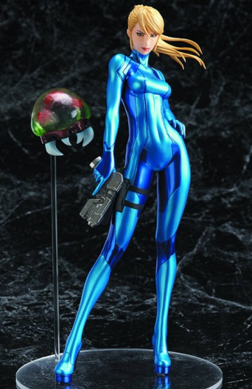 Samus Aran Zero Suit Version 8 inch Statue