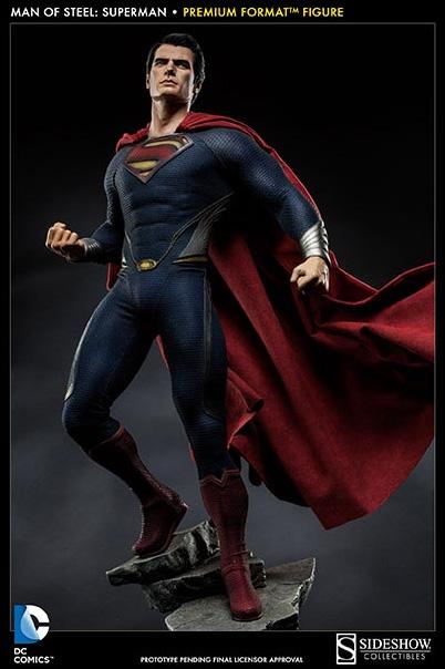 Superman Man of Steel Statue Premium Format